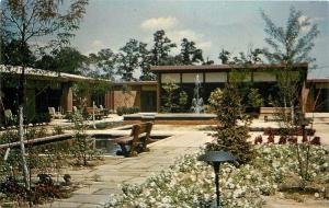 Hightstown Meadow Lakes~NJ Synod Presbyterian Home~Courtyard, Cement Pond~1950s