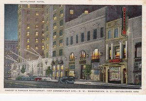 WASHINGTON D.C. , 30-40s; Mayflower Hotel, Harvey's Famous Restaurant