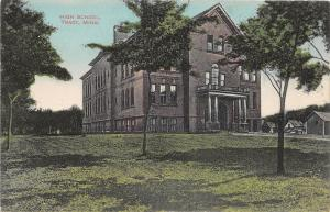 D88/ Tracy Minnesota Mn Postcard 1911 High School Building