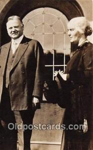 West Branch, Iowa, USA President & Mrs. Herbert Hoover