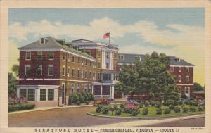 Stratford Hotel , FREDERICKSBURG , Virginia , 30-40s