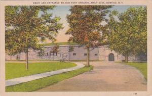New York Oswego Drive and Entrance To Old Fort Ontario Built 1755