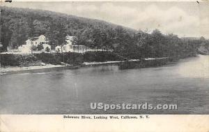 Delaware River Looking West Callicoon NY Unused