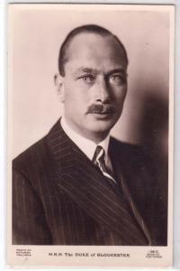 RPPC, H.R.H. Duke of Gloucester