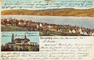 RUSCHLIKON ZURICH SWITZERLAND~PANORAMA-HOTEL PENSION BELVOIR~1905 POSTCARD