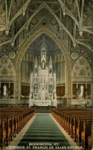 VT - Bennington. Old St Francis de Sales Church, Interior