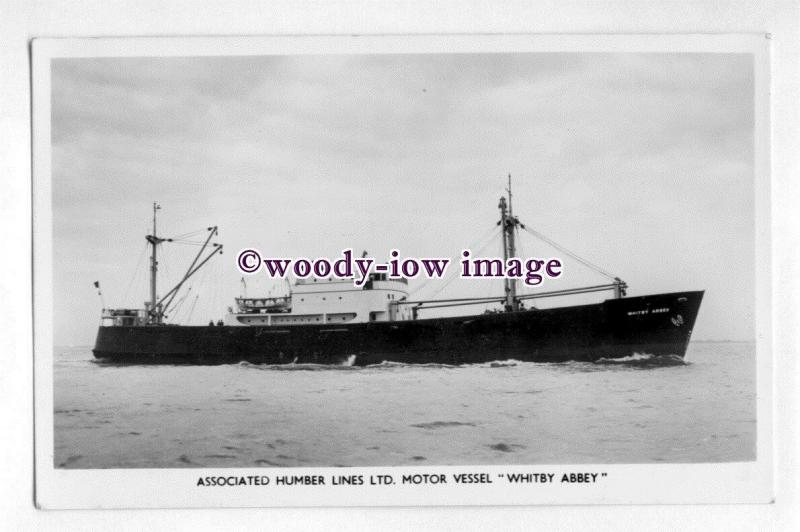 pf4616 - Assoc Humber Lines Coaster - Whitby Abbey , built 1954 - postcard