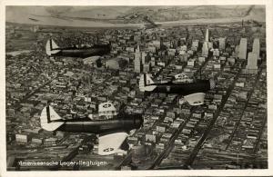 US Military Aircraft North American NJ-1 (?) (1930s) Aerial RPPC