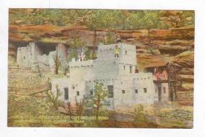 View Of Taos Indian Pueblo & Cliff Dwellers Ruins, Cliff Dwellers Canon, Mani...