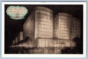 THE MAYFLOWER HOTEL WASHINGTON DC*CONNECTICUT AVE L ST*LUMITONE VINTAGE POSTCARD