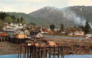 WRANGELL Alaska on the Inside Passage Ferry Dock ca 1950s Vintage Postcard