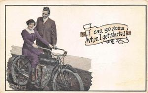 1913 Indian Motorcycle Advertising Postcard