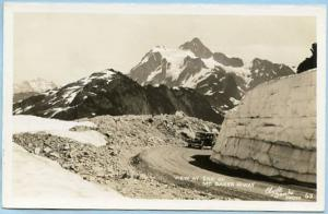 WA - View at the end of Mt. Baker Highway    *RPPC