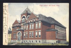 IDA GROVE IOWA HIGH SCHOOL BUILDING ANTIQUE VINTAGE POSTCARD MAYSVILLE MO.