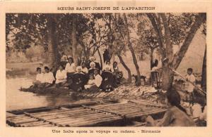 Burma Myanmar missionaires nuns Postcard