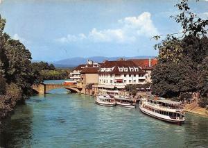 Switzerland RHeinfelden (Schweiz) Schifflaende Bridge Boats Pont Panorama
