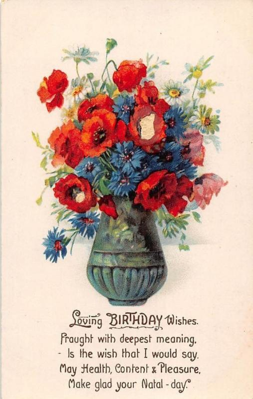 Loving Birthday Wishes, deepest meaning, wish, Health, Content & Pleasure, poppy