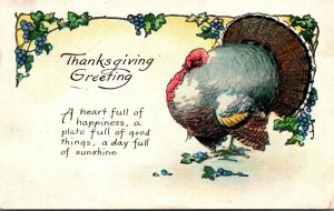 Thanksgiving With Turkey 1924