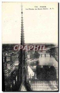 Postcard Old Paris La Fleche Notre Dame