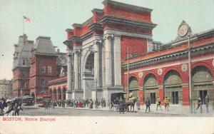 North Station, Boston, Massachusetts, early postcard, unused