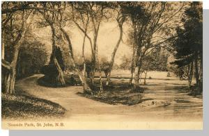 St John, New Brunswick/NB Canada Postcard, Seaside Park/1909