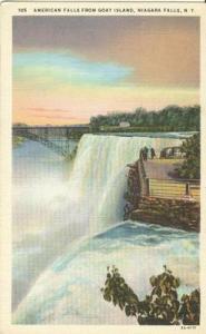 American Falls from Goat Island, Niagara Falls, New York ...