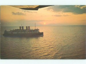 Pre-1980 FERRYBOAT SCENE Cape Borden To Tormentine New Brunswick NB AF4041