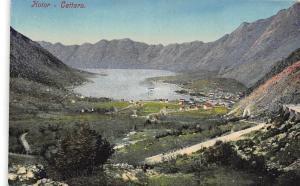 Montenegro - Kotor - Cattaro, aerial general view, panorama 1916
