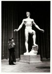 Der Sieger Nude Male Statue by Arno Breker Nazi Art Postcard