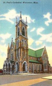 Massachusetts Worcester St Paul's Church 1952