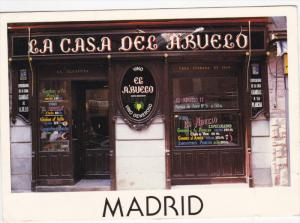 MADRID, Spain, PU-1992; Casa Del Abuelo, Vino Generoso
