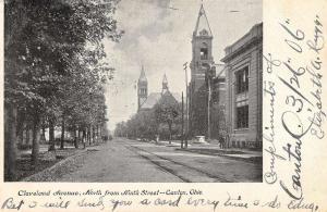 Canton Ohio Cleveland Avenue Street View Antique Postcard K32267