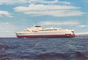 Black Ball Transport 750 Passenger Ferry M.V. Coho Leaving Pt. Angeles Harbor...