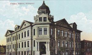 Exterior, Normal School, Winnipeg, Manitoba, Canada,00-10s