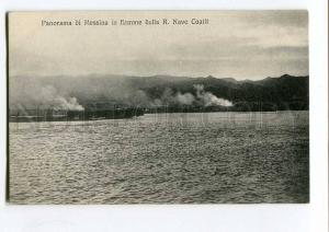 251547 ITALY Messina in flames Vintage Alterocca postcard