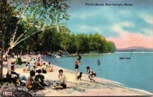 Maine East Sebago Scene On Fitch's Beach