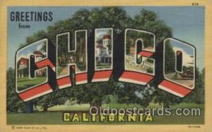 Chico, California, USA Large Letter Towns Postcard Postcards  Chico, Californ...
