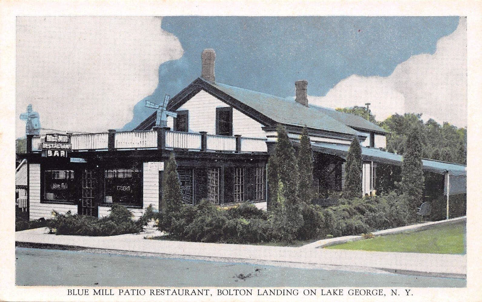 Bolton Landing New York Blue Mill Patio Restaurant Bar