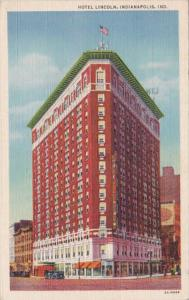 Indiana Indianapolis Hotel Lincoln 1946 Curteich