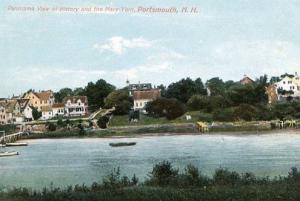 NH - Portsmouth, Panorama View of Kittery and the Navy Yard