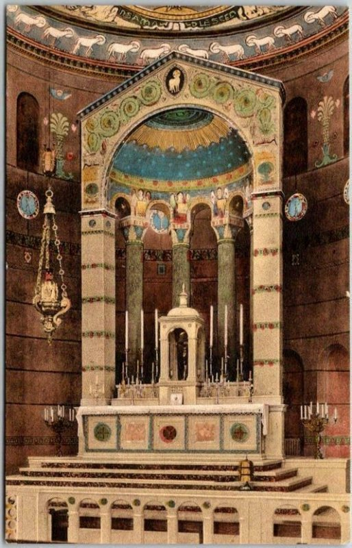 Washington DC Hand-Colored Postcard Shrine of the Sacred Heart High Altar View