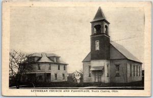 North Canton, Ohio Postcard Lutheran Church & Parsonage c1910s Unused