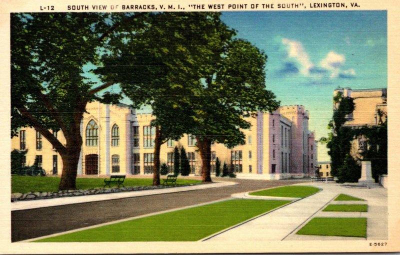 Virginia Lexington South View Of Barracks Virginia Military Institute