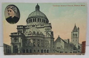 Christian Science Church Boston Massachusetts Vintage Postcard