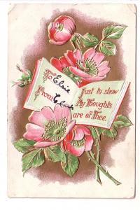 Wild Roses and Book, Elsie, Clark, BB London Embossed, Windsor Forks Nova Sco...