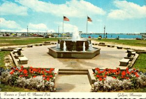 Mississippi Gulfport Fountain At Joseph T Memorial Park