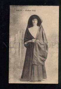 040647 MALTA Young Lady in native dress Vintage PC