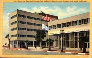 California Hollywood Columbia Square Home Of KNX Columbia Broadcasting System...