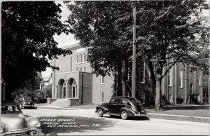 Sun Prairie WI Sacred Hearts Parish Hall Unused LL Cook Real Photo Postcard G56