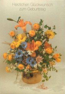 greetings flowers decoration ornaments vase Postcard